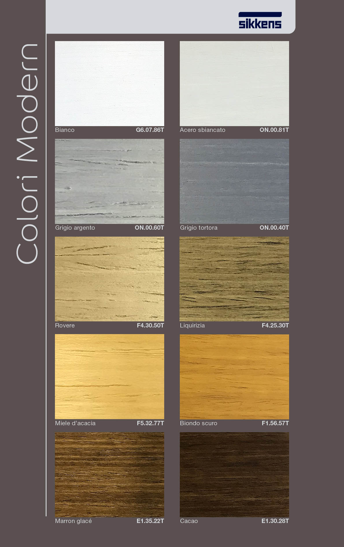 colori SIKKENS CETOL LEGNO modern